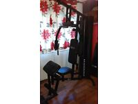 Dynamix multi compact home gym + extras and free sit up bench