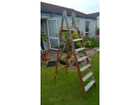 Wooden Step Ladder approx 6ft