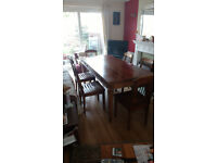 Solid Wood Dining Table, with chairs (Please feel free to make an offer)