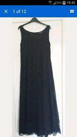 Helen David English Eccentrics Black Silk Maxi Dress 14
