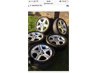 """5 x 17"""" alloys with tyres"""
