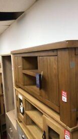 Arizona Large Solid Pine TV unit - Dark Stain