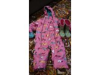 Joules snow suit and wellies