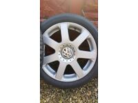 """VW Alloy Wheels 16"""" with tyres."""