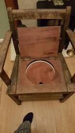Antique potty chair