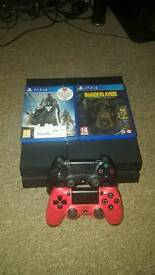 PS4 500gb with 2 games and controllers