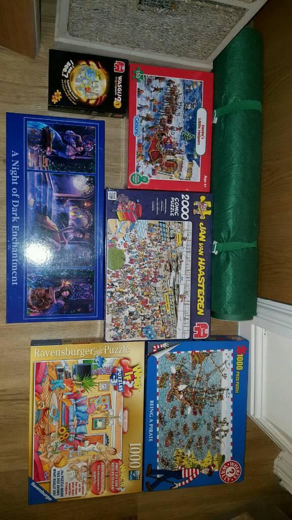 6 puzzles plus puzzle roll