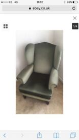 Quality green armchair nearly new