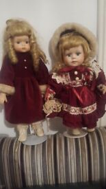 Great condition porcelian dolls