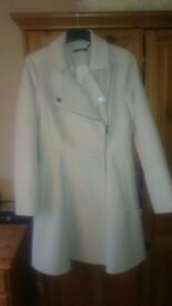 brand new,ladies pure wool 3/4 coat in cream