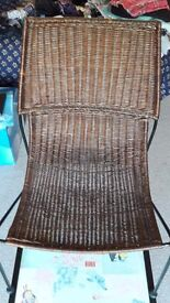 Wicker chair, never used, like new