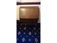 Antique solid wood writing desk / bureau