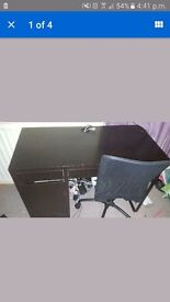 Desk and chair used condition few marks on top i havent ckeaned of and a sall hole on chair