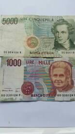 Banca D Italià Bank Notes 80s& 90s