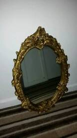 French Ornate Oval Mirror