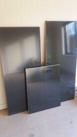 Kitchen Worktop. 3 remnant lengths. black.