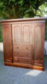 large antique wardrobe