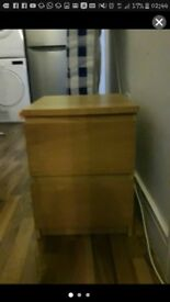 £25 IKEA MALM BED SIDE CHEST OF DRAWERS TABLE 07704493968
