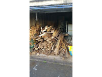Wood. Timber. Free. Old Fencing posts and feather boards. Off cuts. Pallets.