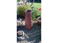 "Vintage terracotta chimney pot, 32"" tall"