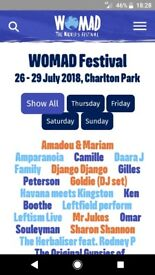 4 Day Womad Ticket