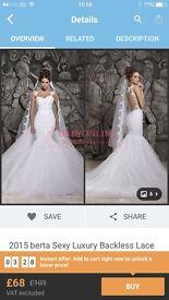 Brand new wedding dress miss buy