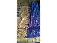 Heavy Banarasi / katan saree royal blue and gold