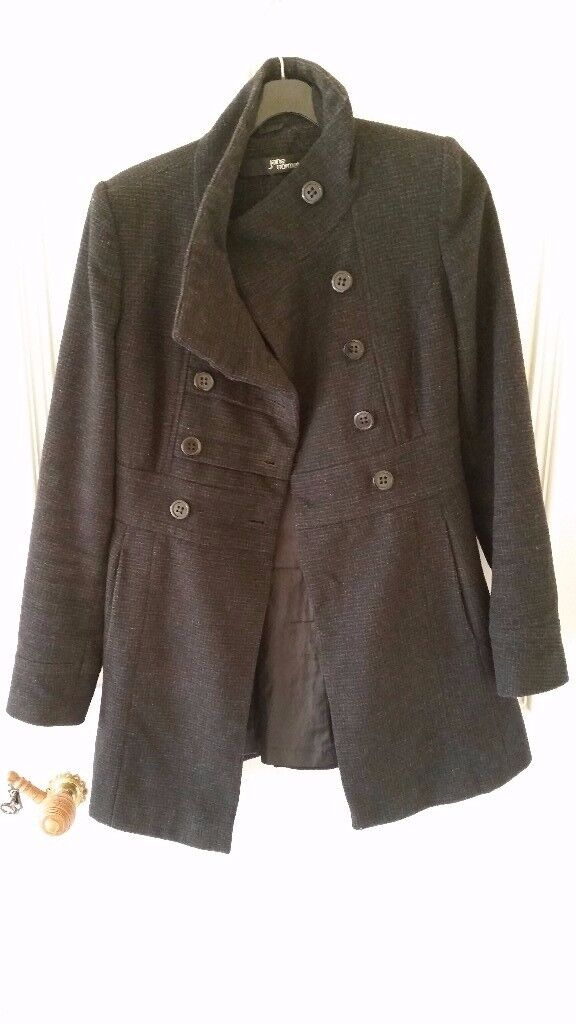 Women Size UK 8 Black Jane Norman, Button Coat, Great condition, Contact me soon as, Cheap price £15