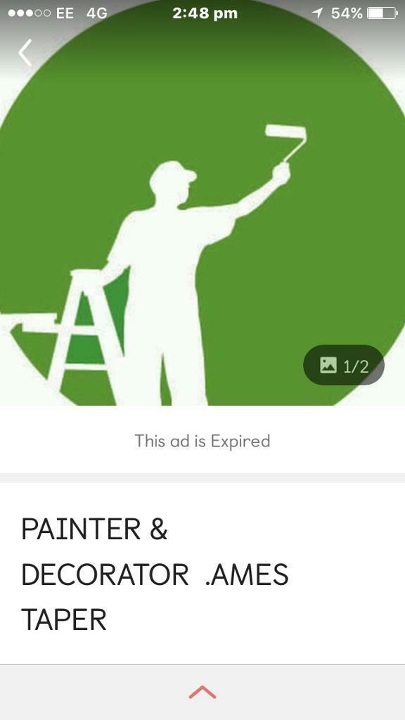 Painter and decorator / Ames taper