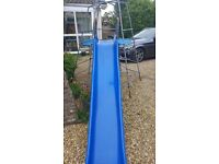 Metal Climbing Frame with Blue Slide