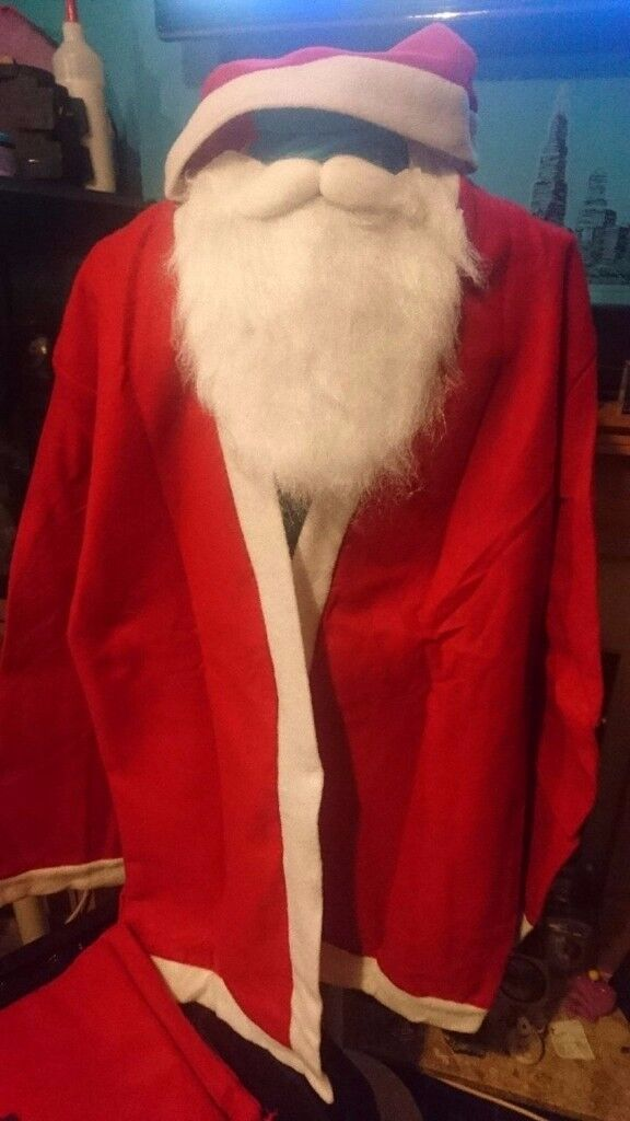 Father Christmas fancy dress costume New