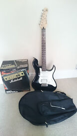 Yamaha Electric Pacifica, Marshall MG-series 10CD, carry case
