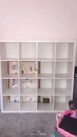 Ikea white white kallax cubes