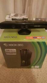 Xbox360 250gb with 2 pads, Kinect and loads of games