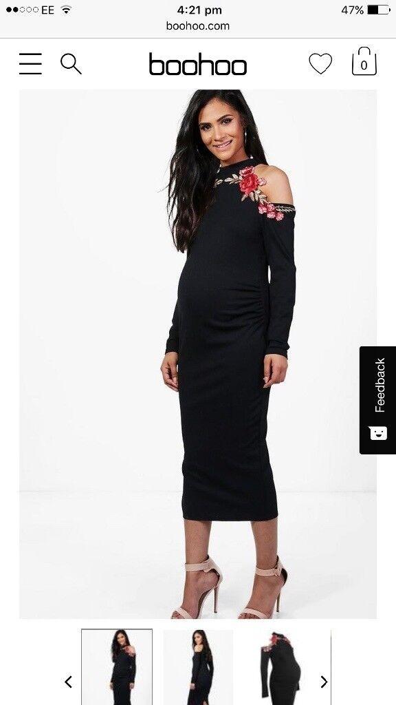 Beautiful Detailed Maternity midi dress
