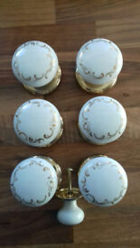 THREE SETS OF LOVELY GAINSBOROUGH MORTICE DOOR HANDLES FOR SALE
