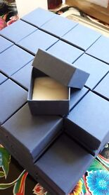 100 rigid card boxes for jewellery or small crafts
