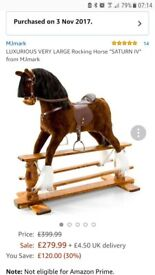Rocking horse, brand new, boxed
