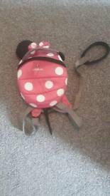 Littlelife Minnie mouse bag and reigns