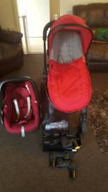 Maxi cosy i candy pram and car seat
