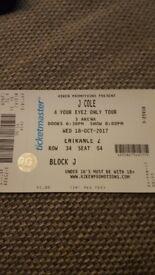 1 J Cole ticket