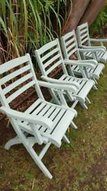Vintage x4 folding chairs +table RRP £380