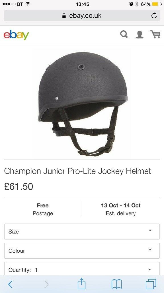 Children's champion horse riding hat