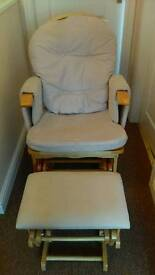 Baby weavers nursing / gliding chair and stool