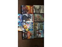 Xbox 360 five games and eight dvds