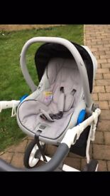 3 in 1 pram immaculate condition Roan bass soft