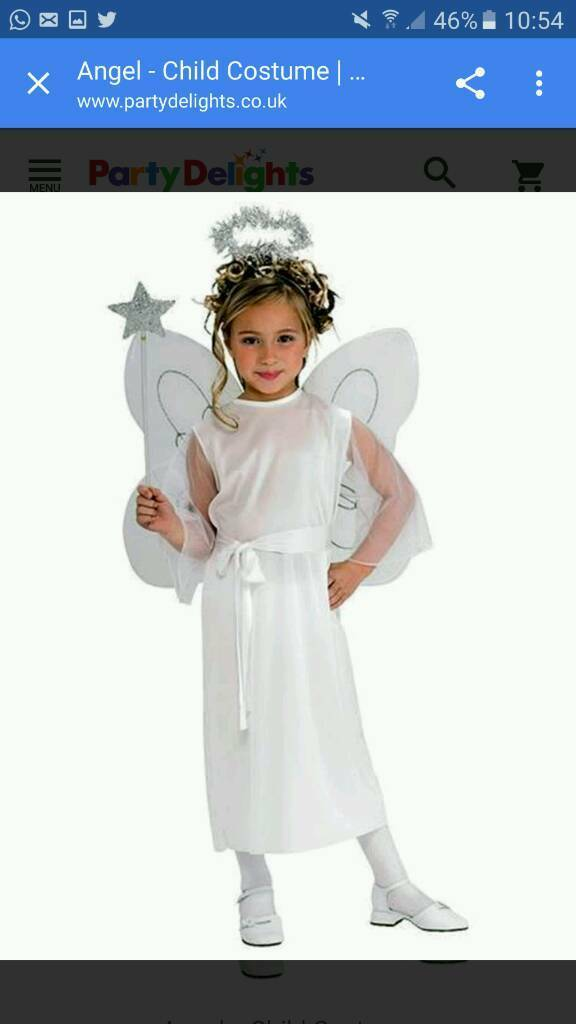 Wanted angel costume age 6-7