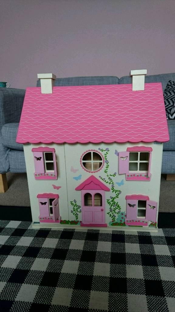 Beautiful girls wooden dolls house
