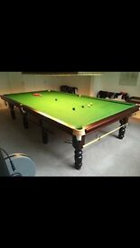 Full size snooker And complete set up over head light the whole lot