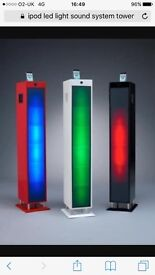 Red iPod led tower